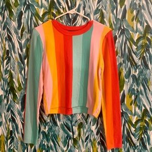 Forever 21 rainbow striped sweater
